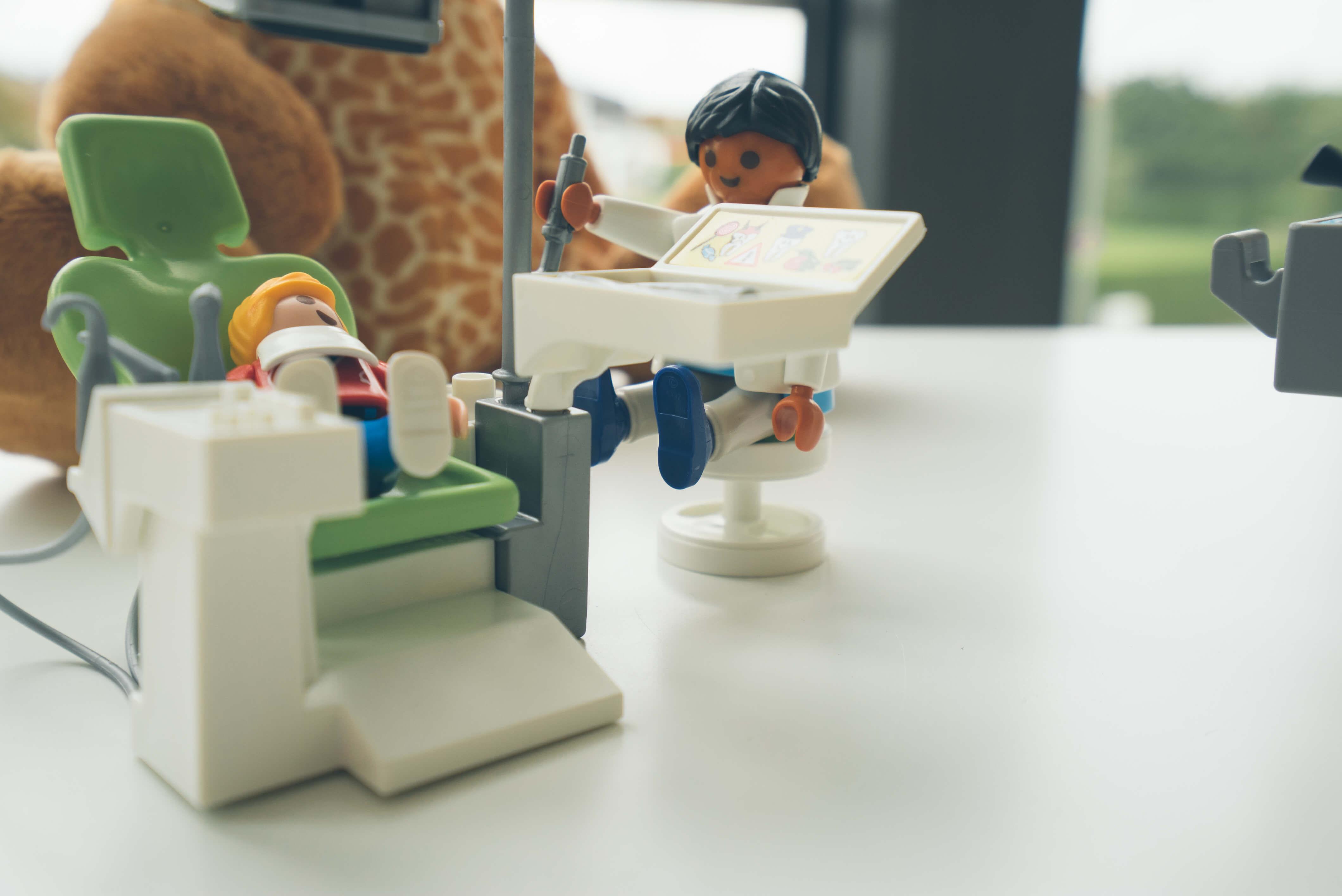 Damit den kleinen Patienten in unserem Wartezimmer nicht langweilig wird.